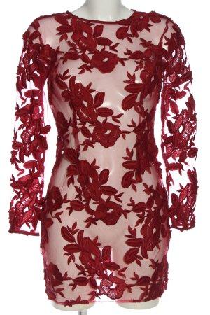 Topshop Minikleid rot Blumenmuster Elegant