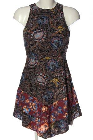 Topshop Minikleid schwarz-rot abstraktes Muster Casual-Look