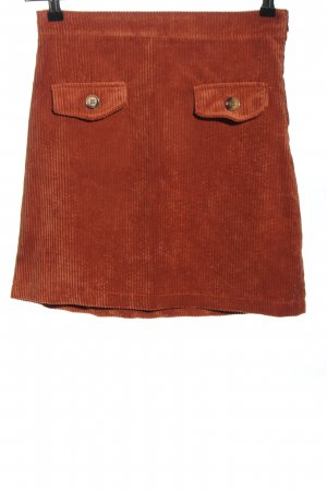 Topshop Minirock rot Streifenmuster Casual-Look