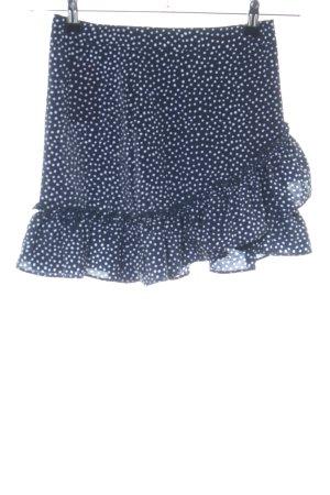 Topshop Minirock blau-weiß Punktemuster Casual-Look