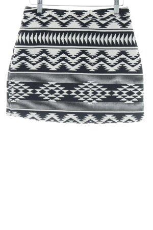 Topshop Minirock schwarz-weiß grafisches Muster schlichter Stil