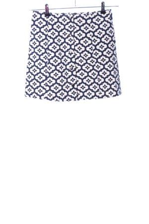 Topshop Minirock weiß-schwarz abstraktes Muster Casual-Look