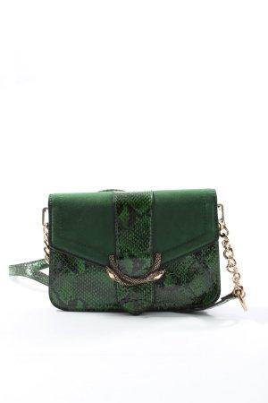 Topshop Minitasche grün Animalmuster Business-Look