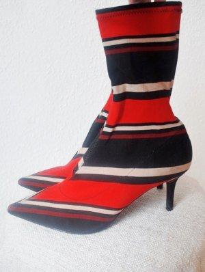 Topshop Mojito Striped Sock Boots gestreifte Stiefelette