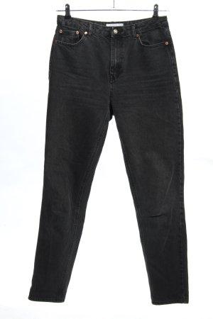 Topshop Mom-Jeans schwarz Casual-Look