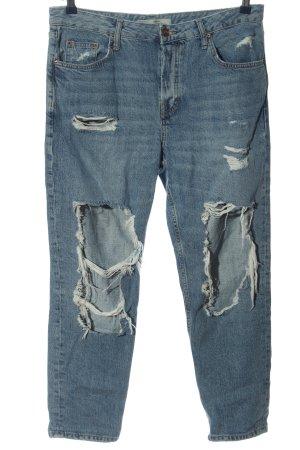 Topshop Moto Jeans taille haute bleu style décontracté