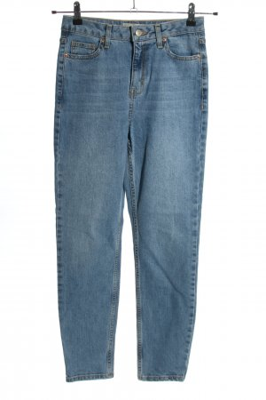 Topshop Moto Hoge taille jeans blauw casual uitstraling