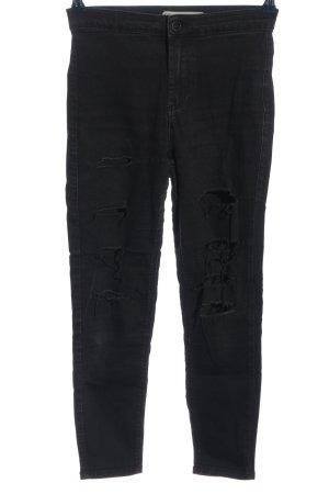 Topshop Moto High Waist Jeans schwarz Casual-Look