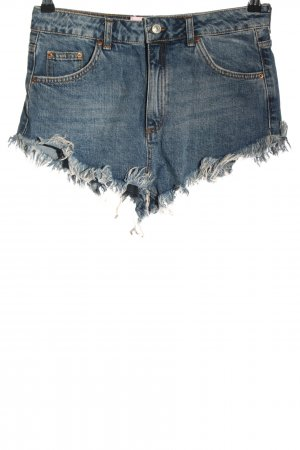 "Topshop Moto High-Waist-Shorts ""Kiri"" blau"