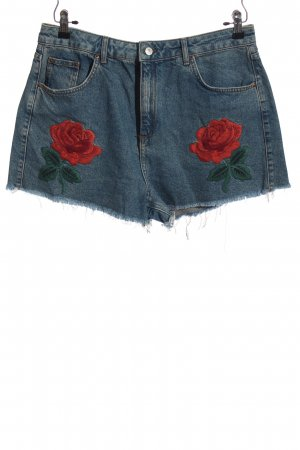Topshop Moto Jeansshorts Blumenmuster Casual-Look