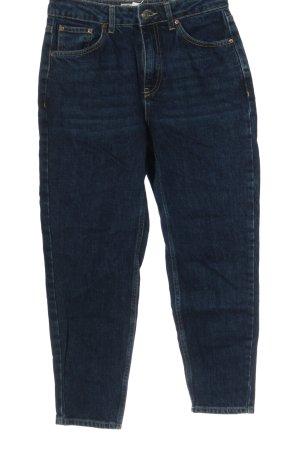 Topshop Moto Mom-Jeans blau Casual-Look