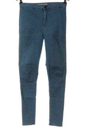 Topshop Moto Skinny Jeans blau Casual-Look