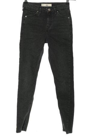 Topshop Moto Skinny Jeans schwarz Casual-Look