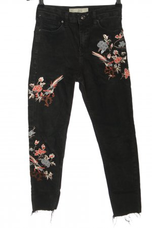 Topshop Moto Skinny Jeans Allover-Druck Casual-Look