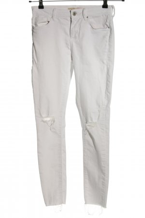Topshop Moto Skinny Jeans weiß Casual-Look