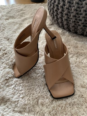 Topshop Mules/High Heels/Sandalen in Cognac