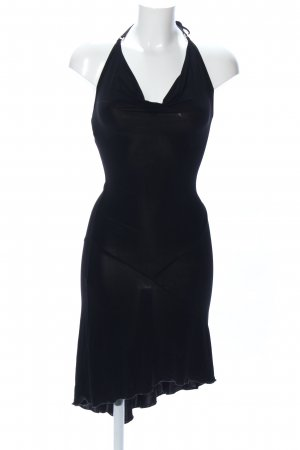 Topshop Vestido de cuello Halter negro elegante