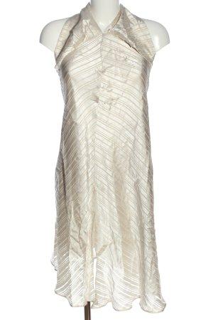 Topshop Halter Dress natural white striped pattern elegant