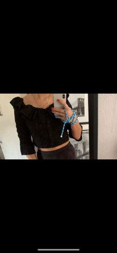 Topshop Crochet Top black