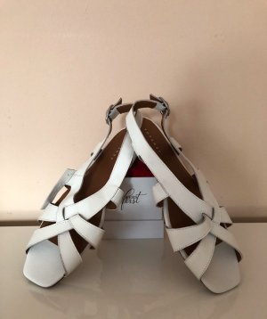 Topshop Strapped Sandals white-brown leather