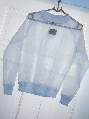 Topshop Organza Pullover in hellblau babyblau