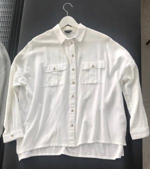 Topshop - Oversized Hemd in Weiß