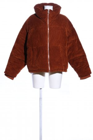 Topshop Oversized Jacke braun Steppmuster Casual-Look