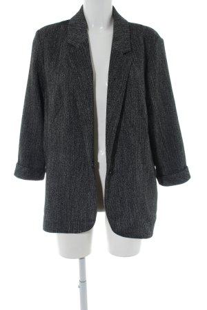 Topshop Oversized Jacke silberfarben-schwarz Allover-Druck Business-Look