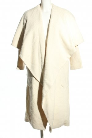 Topshop Oversized Mantel creme Casual-Look