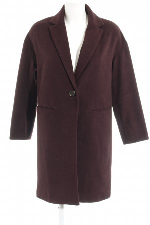 Topshop Oversized Coat purple flecked casual look