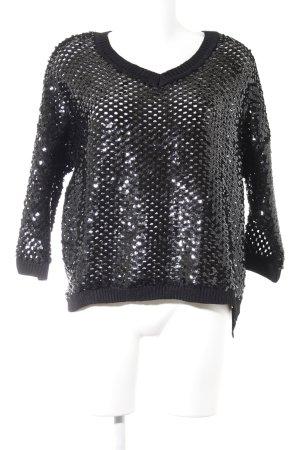 Topshop Oversized Pullover schwarz Glanz-Optik
