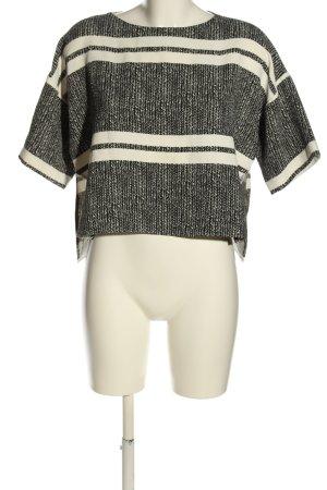 Topshop Oversized Shirt schwarz-wollweiß Allover-Druck Casual-Look