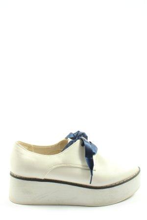 Topshop Scarpa Oxford bianco stile casual