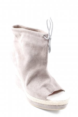 Topshop Peeptoe-Stiefeletten grau-hellgrau extravaganter Stil