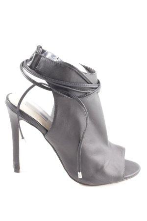 Topshop Peeptoe-Stiefeletten schwarz Elegant