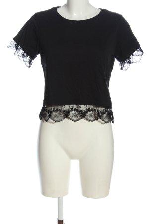 Topshop Petite Camicia cropped nero stile casual