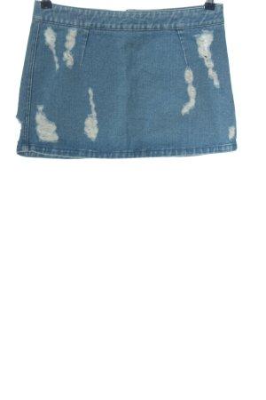 Topshop Petite Gonna di jeans blu stile casual