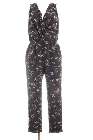 Topshop Petite Jumpsuit schwarz-pink Blumenmuster Casual-Look