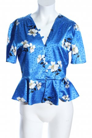 Topshop Petite Kurzarm-Bluse Blumenmuster Casual-Look
