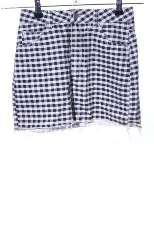 Topshop Petite Minigonna nero-bianco motivo a quadri stile casual
