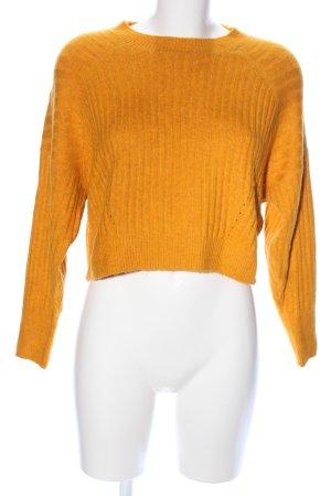 Topshop Petite Oversized Sweater light orange striped pattern casual look