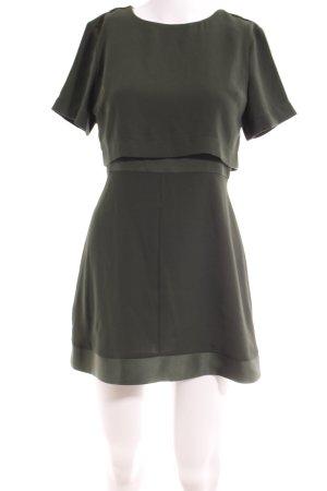 Topshop Petite Shirtkleid dunkelgrün Elegant