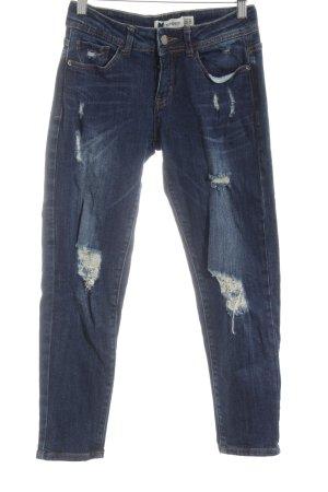 Topshop Petite Skinny Jeans blau Casual-Look