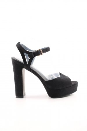 Topshop Plateau-Pumps schwarz Business-Look