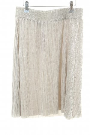 Topshop Pleated Skirt gold-colored elegant