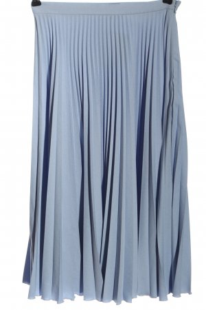 Topshop Plisseerock hellgrau-blau Elegant