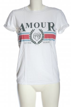 Topshop Print-Shirt weiß Motivdruck Casual-Look