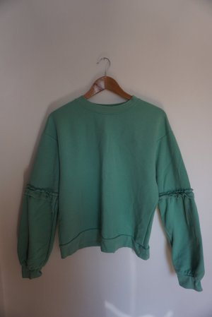 Topshop Crewneck Sweater turquoise-cadet blue
