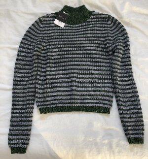Topshop Pull tricoté violet-vert foncé