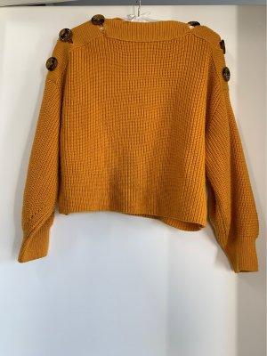 Topshop Pullover Safrangelb Knöpfe M